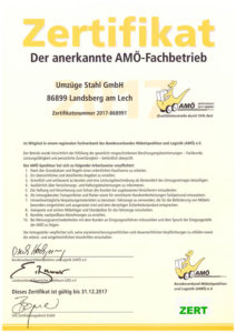 umzuege-stahl-amoe-zertifikat