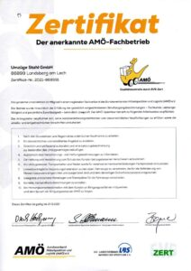 AMÖ Zertifikat 2021